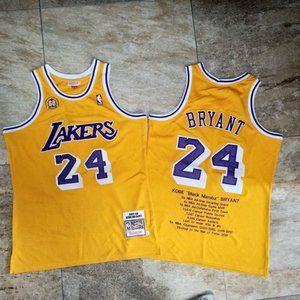 Los Angeles Lakers Kobe Bryant 24 Gold Jersey
